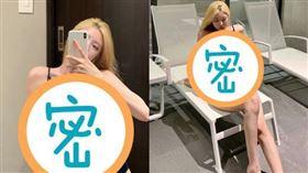 崔素美分享自家泳裝新品,傲人雙峰毫不私藏。(圖/翻攝自instagram@cxxsomi)