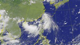 輕颱哈格比最新衛星雲圖。(圖/翻攝自氣象局網站)