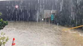 颱風,大雨,涵洞,駕駛,受困