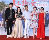 「天之驕女」演員王品浩、華千涵、林佑星、劉沛緹、張靜之。(記者邱榮吉/攝影)