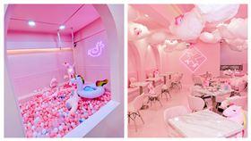 uniqorn taiwan粉紅獨角獸咖啡廳。(圖/記者馮珮汶攝)