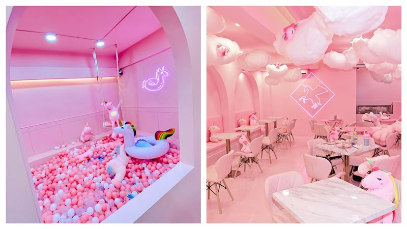 獨/打卡熱點 開箱粉紅獨角獸咖啡廳