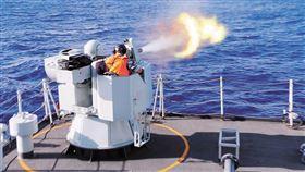 中國人民解放軍駱馬湖艦實彈射擊訓練(圖/翻攝中國國防部)