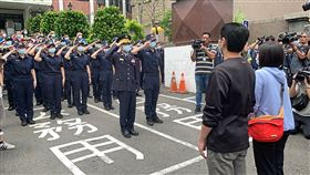 楊庭豪,列隊,新北,樹林警分局,樹林,警察,派出所