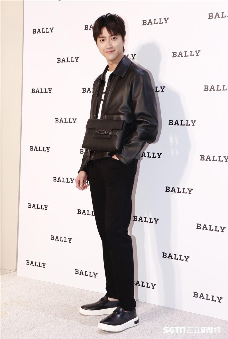 江宏傑出席BALLY遠百信義開幕活動。(圖/記者林聖凱攝影)