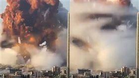 黎巴嫩爆炸瞬間。(圖/翻攝discoversharksIG)