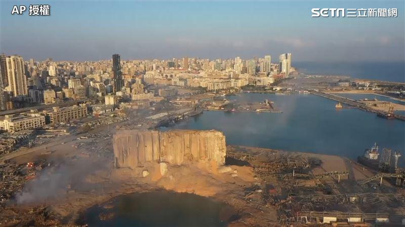 碼頭被炸出隕石坑 黎巴嫩空拍慘況曝