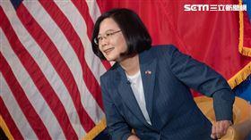 蔡英文出席哥倫比亞大學座談、美國、台灣、中華民國、國旗(圖/總統府提供)