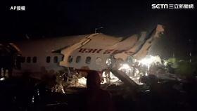 印度撤僑班機從杜拜起飛,斷兩截,飛機,武漢肺炎圖/AP授權