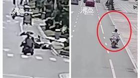 浙江,機車,車禍,情侶(圖/翻攝自沸點視頻微博)