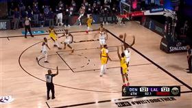 NBA/0.4秒絕殺!庫茲馬扮英雄 NBA,洛杉磯湖人,Kyle Kuzma,絕殺,丹佛金塊 翻攝自推特