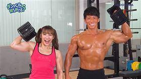 才木鈴佳。日本女星,反差萌少女,健身肌肉。(圖/翻攝自PTT)