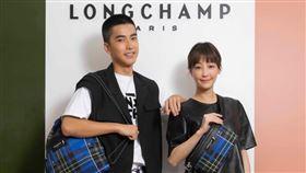 謝欣穎、曾敬驊共同出席法國精品品牌Longchamp2020冬季系列發布會。(圖/Longchamp提供)