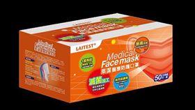 萊爾富最新一波「淡橙橘」醫療用盒裝口罩預計19日開放預購。(圖/業者提供)
