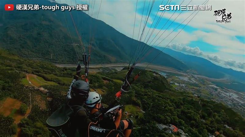 划槳出海迎日出 挑戰高空飛行傘