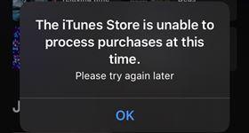 iTunes Store目前無法處理購買。圖/翻攝自@da_ni_ella twitter