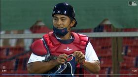 ▲林子偉上場蹲捕,大聯盟生涯首次。(圖/翻攝自MLB官網)