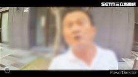 北市李男朝路過車輛吐口水,還罵警員「王八蛋」三字遭逮。(圖/翻攝畫面)