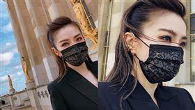 黑蕾絲,口罩,謝金燕,排隊(翻攝自 謝金燕IG)