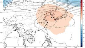 0816老大,最新(15日20時)歐洲中期預報中心(ECMWF)模式,模擬週一(17日)至週五(22日)20時平均圖顯示,500百帕「太平洋高壓」中心大約在日本附近徘徊,而台灣則是在「太平洋高壓」的邊緣。(圖擷自tropical tidbits)