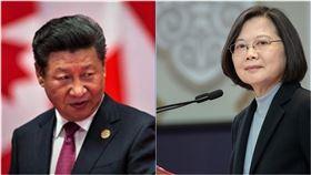 中國領導人習近平、總統蔡英文。(組合圖/資料照、翻攝臉書)
