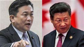 民進黨立委王定宇、中國領導人習近平(組合圖/資料照)