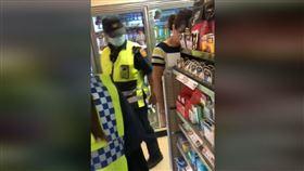 爆廢,警察,便利商店,木頭人