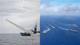 魚叉反艦飛彈,美雙航母,組合圖