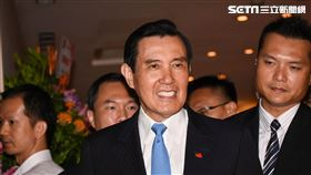 前總統馬英九出席馬英九基金會成立茶會。 (圖/記者林敬旻攝)