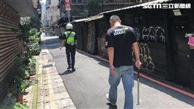 台北市西門町男子持菜刀隨機砍人。(圖/記者楊忠翰攝影)