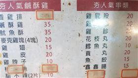 萬華,鹽酥雞,價格,20年(翻攝自 爆怨公社)