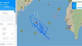 共機,偵察機,繞圈,挑釁,台海中線,航跡