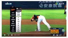 ▲統一獅二壘手林靖凱生涯第2次登板。(圖/截自麥卡貝運動頻道)