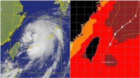 巴威颱風與海溫分布圖(圖/翻攝自賈新興臉書、氣象局)