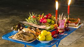 中元節 拜拜 普渡 無上元 普渡拜拜圖(圖片來源 Flickr)