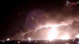 敘利亞首都馬士革地區發生天然氣管線大爆炸(圖/翻攝自Miftah's TV YouTube)