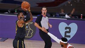 ▲詹姆斯(LeBron James)生涯季後賽得分破7000分,NBA第1人。(圖/美聯社/達志影像)