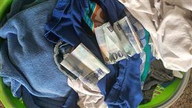 自助洗衣店,暖心,衣服,錢,千元大鈔