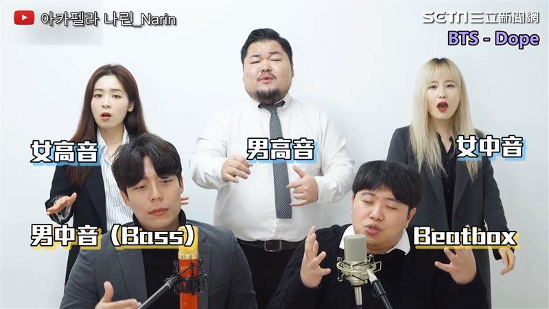 韓國阿卡貝拉五人組 純人聲唱出經典