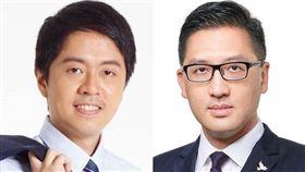 香港民主黨籍立法會議員林卓廷(右)及許智峯(左)26日上午被警方拘捕。(左圖取自facebook.com/huichifung913、右圖取自facebook.com/LamCheukTing.Official)