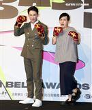黃子佼、溫昇豪公布第55屆金鐘獎入圍名單。(記者邱榮吉/攝影)