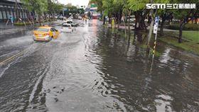 台北,中山北路,淹水 北市府提供