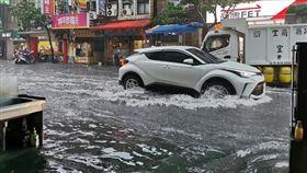 宜蘭縣宜蘭市淹水(圖/翻攝自宜蘭知識+)