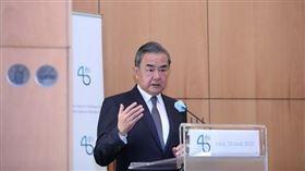王毅,中國外交部部長,訪法國(圖/翻攝自中國外交部)