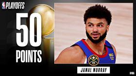 Jamal Murray寫下多項紀錄。(圖/翻攝自NBA推特)