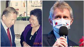 陳菊與前捷克總統哈維爾(翻攝自陳菊臉書);捷克參議院議長韋德齊(圖/經濟部提供)