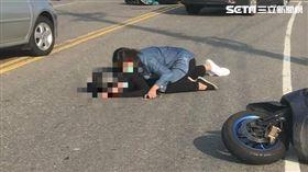 女兒車禍倒地,母肉身保護/議員賴清美提供