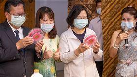 總統參訪「桃園市新住民文化會館」及「桃園軌道願景館」(圖/總統府)