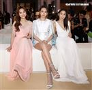 吳姍儒、夏于喬、郭書瑤出席2021 Resort 時尚大秀。(記者邱榮吉/攝影)