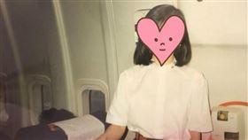 網友翻出媽30年前「0修圖」空姐照(圖/翻攝自Dcard)